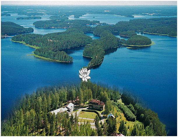 Itä-Karjalan Kansanopiston kesäinen ilmakuva